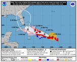 Huracán Irma acercándose a Puerto Rico.